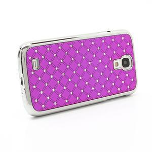 Drahokamové pouzdro pro Samsung Galaxy S4 i9500- růžové - 3
