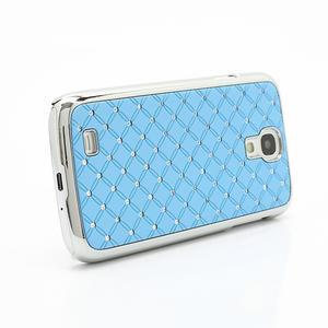 Drahokamové pouzdro pro Samsung Galaxy S4 i9500- světle-modré - 3