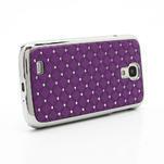 Drahokamové pouzdro pro Samsung Galaxy S4 i9500- fialové - 3/7