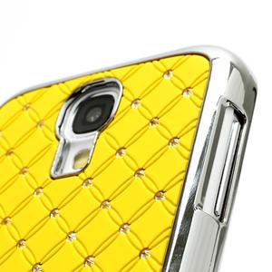 Drahokamové puzdro pro Samsung Galaxy S4 i9500- žlutá - 3