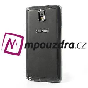 Gélové hybrid puzdro na Samsung Galaxy Note 3- šedé - 3