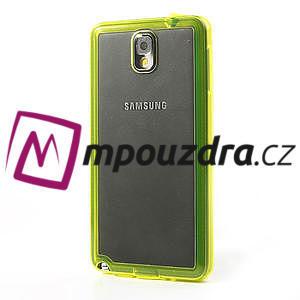 Gélové hybrid puzdro na Samsung Galaxy Note 3- žlté - 3