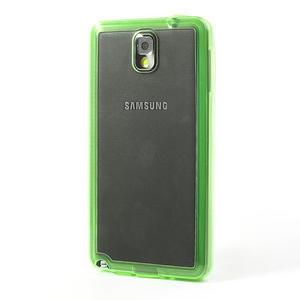 Gélové hybrid puzdro na Samsung Galaxy Note 3- zelené - 3