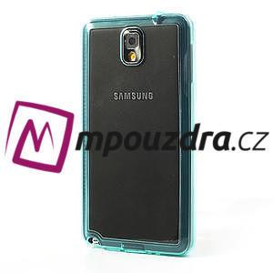 Gélové hybrid puzdro na Samsung Galaxy Note 3- svetlo modré - 3