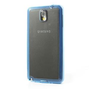 Gélové hybrid puzdro na Samsung Galaxy Note 3- modré - 3