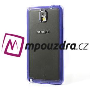 Gélové hybrid puzdro na Samsung Galaxy Note 3- fialové - 3