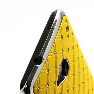 Drahokamové puzdro pre HTC one M7- žlté - 3