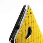 Drahokamové puzdro pre HTC one M7- žlté - 3/6