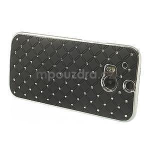 Drahokamové puzdro pre HTC one M8- čierné - 3