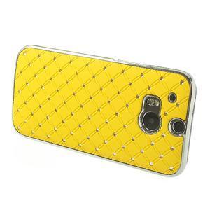 Drahokamové puzdro pre HTC one M8- žlté - 3