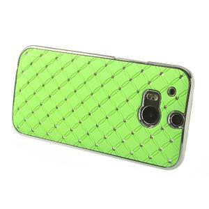Drahokamové puzdro pre HTC one M8- zelené - 3