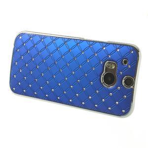 Drahokamové puzdro pre HTC one M8- modré - 3