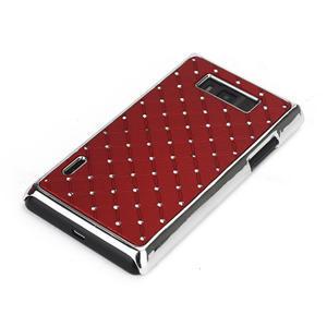 Drahokamové puzdro pre LG Optimus L7 P700- červené - 3