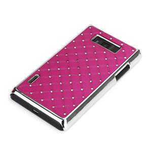 Drahokamové puzdro pre LG Optimus L7 P700- ružové - 3