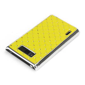 Drahokamové puzdro pre LG Optimus L7 P700- žlté - 3