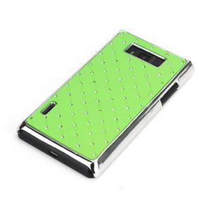 Drahokamové puzdro pre LG Optimus L7 P700- zelené - 3