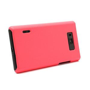 Texturované puzdro pre LG Optimus L7 P700- ružové - 3