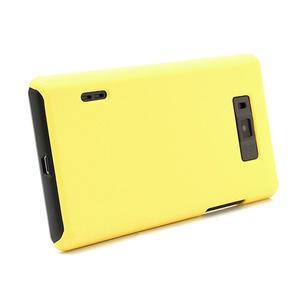 Texturované puzdro pre LG Optimus L7 P700- žlté - 3