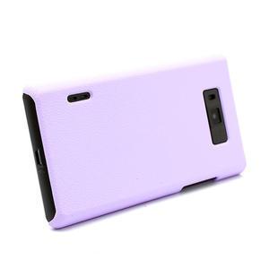 Texturované puzdro pre LG Optimus L7 P700- fialové - 3