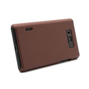 Texturované  puzdro pre LG Optimus L7 P700- hnedé - 3