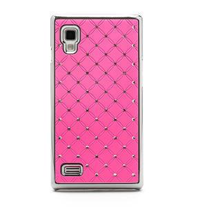 Drahokamové puzdro pre LG Optimus L9 P760- svetleružové - 3