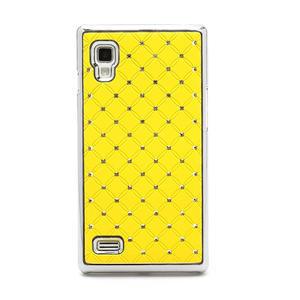 Drahokamové puzdro pre LG Optimus L9 P760- žlté - 3