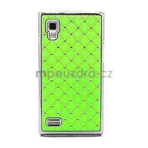 Drahokamové puzdro pre LG Optimus L9 P760- zelené - 3