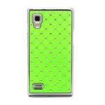 Drahokamové puzdro pre LG Optimus L9 P760- zelené - 3/7