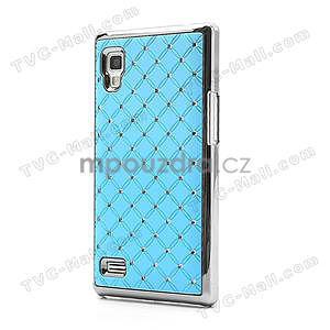 Drahokamové puzdro pre LG Optimus L9 P760- svetlo modré - 3