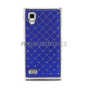 Drahokamové puzdro pre LG Optimus L9 P760- modré - 3