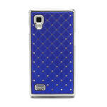 Drahokamové puzdro pre LG Optimus L9 P760- modré - 3/7