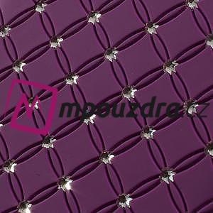 Drahokamové puzdro pre Samsung Trend plus, S duos- fialové - 3