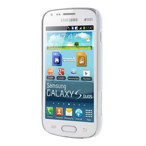 Plastové puzdro na Samsung Trend plus, S duos - růžové kníraté - 3