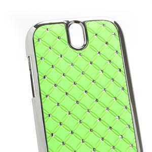 Drahokamové puzdro pre HTC One SV- zelené - 3