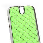 Drahokamové puzdro pre HTC One SV- zelené - 3/5