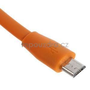 Propojovací micro USB kabel - délka 1 m, oranžový - 3