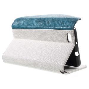 Luxusní peněženkové pouzdro na Huawei P8 Lite - bílé / modré - 3