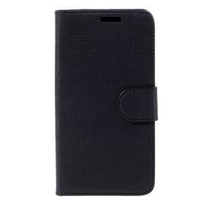 Cloth PU kožené puzdro na mobil Microsoft Lumia 550 - čierné - 3