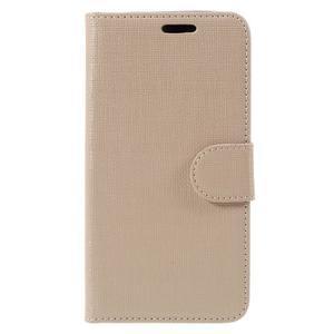 Cloth PU kožené puzdro na mobil Microsoft Lumia 550 - champagne - 3