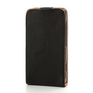 Flipové čierné puzdro na Nokia Lumia 520 - 3