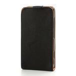 Flipové čierné puzdro na Nokia Lumia 520 - 3/7
