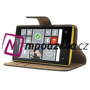 Peňaženkové puzdro na Nokia Lumia 520 - čierné - 3