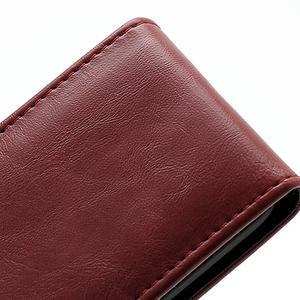 Flipové puzdro na Nokia Lumia 620- červené - 3