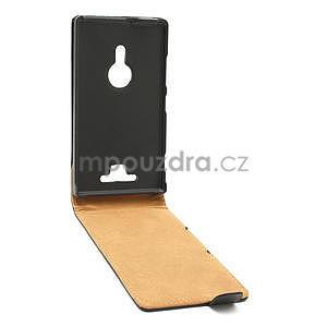 Flipové čierné puzdro pre Nokia Lumia 925 - 3