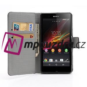 Peňaženkové puzdro pre Sony Xperia Z C6603 - motýľe - 3