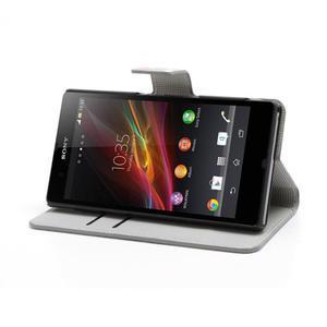 Peňaženkové puzdro pre Sony Xperia Z C6603 - farebné vzory - 3