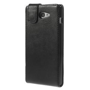 Flipové puzdro pre Sony Xperia M2 D2302 - čierné - 3