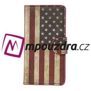 Peněženkové pouzdro na Sony Xperia Z1 Compact D5503 - USA vlajka - 3