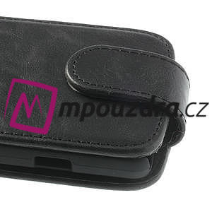 Flipové kožené puzdro na LG Optimus L9 II D605 - čierné - 3