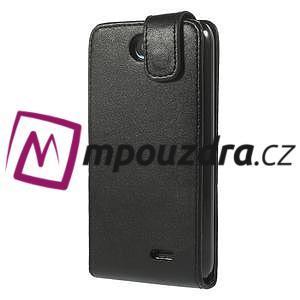 Flipové Cover kožené puzdro na HTC Desire 310- čierné - 3